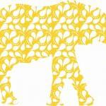 Nursery Decor Yellow Elepha..