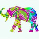 Nursery Decor Elephant in T..