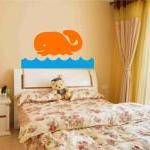 Cute Whale Decal Wall Stick..