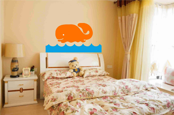 Cute Whale Decal Wall Sticker