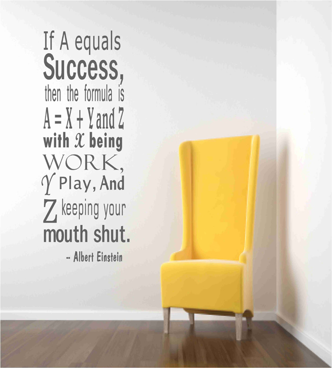 Einstein Success Quote Wall Decals
