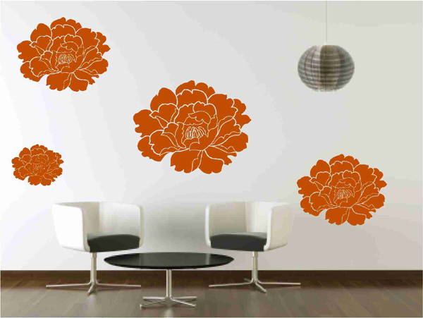 Floral vinyl Wall decals