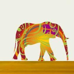 Nursery Decor Elephant Wall Decals in beautiful colors