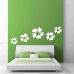 White Flowers  Wall Decals