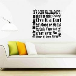 Australian Slangs and Expressions Wall Vinyl Decal