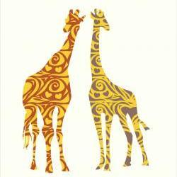 Nursery Decor Giraffe Pair Decals Wall Vinyl Sticker